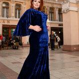Бархатное нарядное платье 50-56 р-р