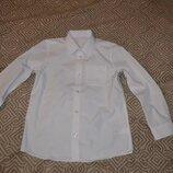 Новая белая рубашка F&F на 10 лет рост 140 Англия