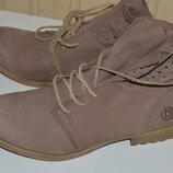 Ботинки сапожки кожа bugatti 42 41, ботінки шкіра