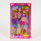Кукла DEFA LUCY SISTERS SKATING. В комплекте 2 куклы рюкзак очки . 2 цвета