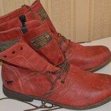 Ботинки черевики сапожки mustang 42 41, ботінки