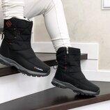 Зимние женские ботинки черные 8700