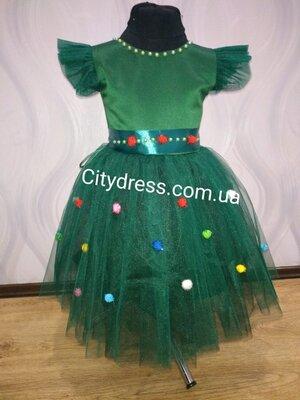 нарядное платье карнавальное Елочка