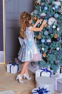 Шикарное нарядное платье София голограмма от производителя