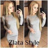 Теплое платье мини Элина