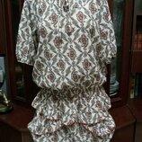 Красивое платье принт цветочный орнамент EDC, размер 44