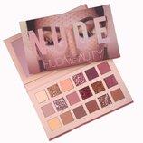 Палетка теней для век Huda Beauty The new nude palette 18 оттенков