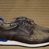 Неординарные комбинированные кожаные кроссовки ручной работы Nylon Италия 42