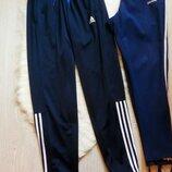 Синие спортивные мужские штаны с полосками лампасами сбоку батал большой размер стрейч