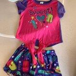 Пижама мороженое шорты Childrens Place, s/p, 5-6 лет