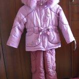 Зимний комплект комбинезон Kiko для девочки.