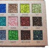 Палетка теней глиттер для век Huda Beauty The new nude palette 18 оттенков