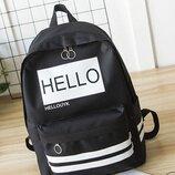 Модный тканевый рюкзак с надписью Hello