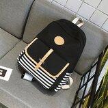 Стильный тканевый рюкзак в полоску