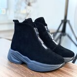 Женские замшевые ботинки.