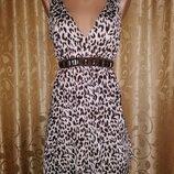 Красивая женская леопардовая майка, блузка New Look