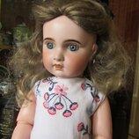Парик для куклы, кукольный парик на объем 38-42 см. Очень качественный, как натуральный