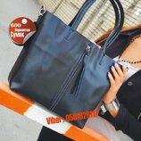 Женская кожаная сумка шоппер натуральная кожа AR000010 кожаные сумки в черном