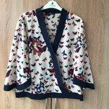 Стильная блуза кимоно oasis бабочки, расклешенный рукав uk 16 - наш 50