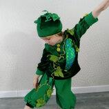 Прокат карнавальный костюм огурец огірок огурчик орурца для мальчика костюм на праздник осени