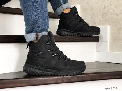 Ботинки зимние мужские черные 8708