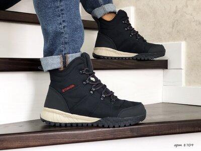 Ботинки зимние мужские темно синие 8709