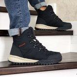 Columbia ботинки зимние мужские темно синие 8709