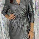 платье Ткань трикотаж с напылением трикотаж металлик