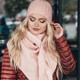 комплект зима, шапка и шарф-бактус,цвета