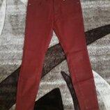 джинсы скинни накат под кожу терракот Zara