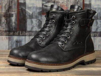 Зимние ботинки на меху Clarks Comfort, черные