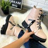 Кожаные ботинки. Зима