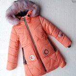 Зимняя куртка для девочки валери, 128-152 см