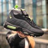 Мужские зимние кроссовки Nike Air Max Sneakerboot 95 черные