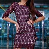 Нарядное платье с дорогого кружева 748
