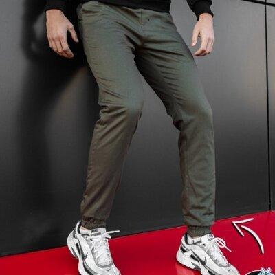 Штаны Budet teplo хаки, мужские зимние штаны на флисе