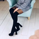 Женские сапоги ботфорты чулок высокие