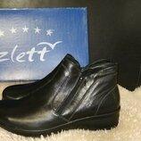 Женские ботинки Zlett ботинки сапоги 42 -41р по ст 27 кожаные, удобные, комфортные, качественные