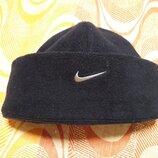 Флисовая тёплая фирменная шапка Nike
