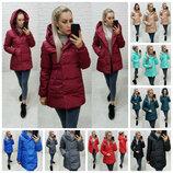 Модная женская зимняя укороченная куртка на молнии и кнопках рукав на манжетах 10 цветов S M L XL
