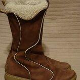 Фирменные замшевые сапоги цвета молочного шоколада Dr. Martens Англия 37 р.