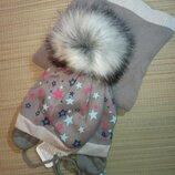 Зимний комплект, шапка и хомут