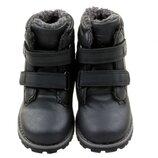 Сапоги,ботинки Новые на липучках Утепленные Евро Зима мальчику фирменные, хорошее качество