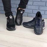 Код 4175-1 Мужские зимние кроссовки Сезон зима Размеры 40 - 45 Цвет синий Материал натуральная