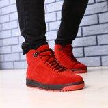 Код 4084-3 Мужские зимние ботинки Сезон зима размеры 40 - 45 Цвет красные материал натуральная