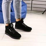 Код 7618-1 Мужские зимние ботинки Сезон зима Размеры 40 - 45 Цвет черный Материал натуральная з