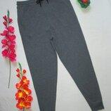 Классные трикотажные хлопковые стрейчевые спортивные штаны высокая посадка Primark.