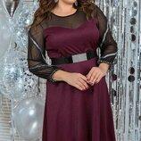 Нарядное платье Корнея батал, Размеры 50,52,54,56.