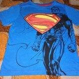 Футболка с суперменом. На бирке 5/6 лет