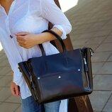 кожаная сумка на плечо шопер KT42247 кожаные сумки